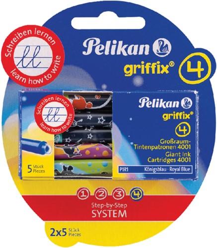 Inktpatroon Pelikan Griffix blauw op blister