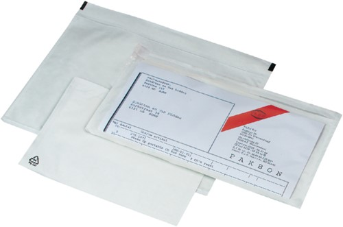 Paklijstenvelop zelfklevend onbedrukt 230x160x25mm 250stuks